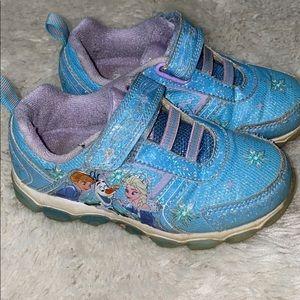 Frozen tennis shoes